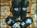 Set Everlast manusi, aparatoare picior si benzi mana pentru kickboxing-imagine1031-jpg