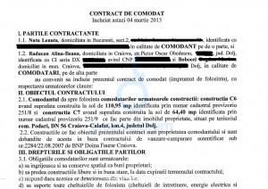 contract comodat